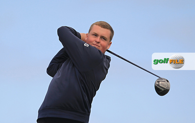 Gavin Fitzmaurice (Balcarrick) on the 14th tee during Round 1 of the Flogas Irish Amateur Open Championship at Royal Dublin on Thursday 5th May 2016.<br /> Picture:  Thos Caffrey / www.golffile.ie