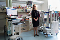 Cheryl Toole is the Nursing Director of the Neonatal Intensive Care Unit at Boston Children's Hospital in Boston, Mass., on Mon., June 13, 2016. Patient space, family space, and work space is all crowded together in the current NICU. The NICU will be greatly expanded under building plans for the hospital, but those plans will eliminate the Prouty Garden, a half-acre of green space at the hospital that many in the hospital community hold dear.