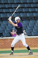 Tony Fortier-Bensen (8) of the High Point Panthers at bat against the Wake Forest Demon Deacons at Wake Forest Baseball Park on April 2, 2014 in Winston-Salem, North Carolina.  The Demon Deacons defeated the Panthers 10-6.  (Brian Westerholt/Four Seam Images)