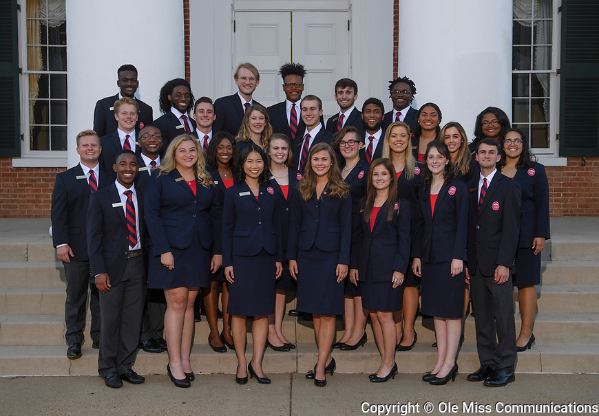 Columns Society 2017-2018. Photo by Thomas Graning/Ole Miss Communications