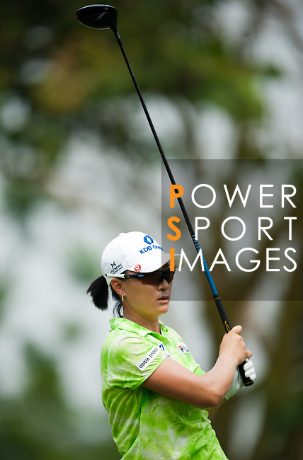 CHON BURI, THAILAND - FEBRUARY 17:  Se Ri Pak of South Korea tees off on the 6th hole during day two of the LPGA Thailand at Siam Country Club on February 17, 2012 in Chon Buri, Thailand.  Photo by Victor Fraile / The Power of Sport Images