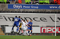 ATTENTION SPORTS PICTURE DESK<br /> Pictured:<br /> Re: npower Championship Swansea City FC v Cardiff City FC at the Liberty Stadium, south Wales. Sunday 06 February 2011
