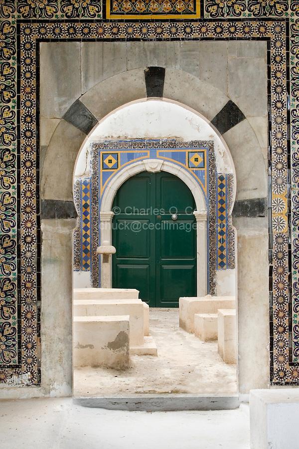 Tripoli, Libya.  Archway Leading to Karamanli Family Graves, Karamanli Mosque.