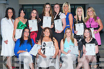 GRADUATES: Enjoying their night at Tralee Community College are the post primary Graduates of the Beauty Therapy course seated l-r: Emma Fitzgerald, Kelly Flanagan, Miriama Chebenova and Michelle Dore. Back l-r: Helen Kelliher, (course coordinator), Breda Spillane, Carly Norris, Regina Cashell, Natalie Kelliher, Lesley Dennehy, Francine Locke and Megan Flynn.   Copyright Kerry's Eye 2008