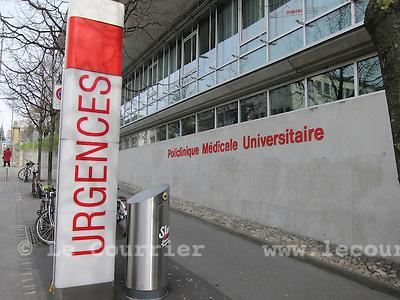 Lausanne, 18.02.2016<br /> Urgences CHUV et Policlinique m&eacute;dicale universitaire<br /> &copy; Mario Togni / Le Courrier