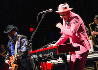 The Mavericks perform to an excited crowd at The Majestic Theatre on Saturday Night with Jerry Dale McFadden on Keys.(Special to the Star-Telegram/Rachel Parker)
