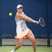 June 13th 2017, Nottingham, England; WTA Aegon Nottingham Open Tennis Tournament day 4;  Ashleigh Barty of Australia who beat Tatjana Maria of Germany in two sets