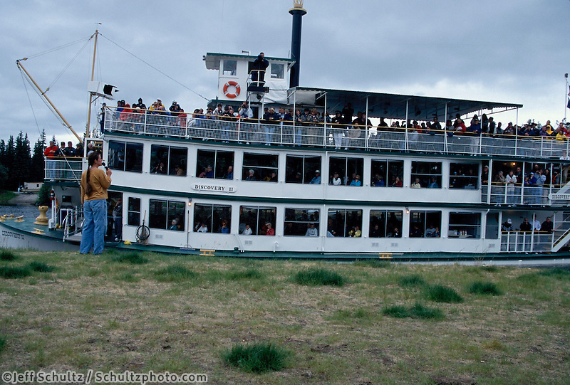 Susan Butcher Gives Demo For Riverboat Discovery Tour In