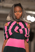 Collection by Sarah Kilkenny from Edinburgh College of Art. Graduate Fashion Week 2014, Runway Show at the Old Truman Brewery in London, United Kingdom. Photo credit: Bettina Strenske