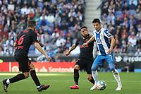 1st March 2020; RCDE Stadium, Barcelona, Catalonia, Spain; La Liga Football, Real Club Deportiu Espanyol de Barcelona versus Futbol Club Atletico Madrid; Wu lei takes on Koke of Atletico