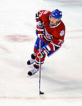 11 November 2008:  Montreal Canadiens' defenseman Andrei Markov from Russia carries the puck up ice in the first period against the Ottawa Senators at the Bell Centre in Montreal, Quebec, Canada. The Canadiens, celebrating their 100th season, defeated the visiting Senators 4-0. ***Editorial Sales Only***..Mandatory Photo Credit: Ed Wolfstein Photo *** Editorial Sales through Icon Sports Media *** www.iconsportsmedia.com