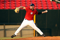 September 14, 2009:  Logan Ehlers, one of many top prospects in action, taking part in the 18U National Team Trials at NC State's Doak Field in Raleigh, NC.  Photo By David Stoner / Four Seam Images