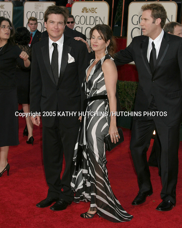 ©2005 KATHY HUTCHINS/HUTCHINS PHOTOS. 62nd GOLDEN GLOBES.BEVERLY HILTON HOTEL.BEVERLY HILLS, CA.JANUARY 16, 2005..JASON BATEMAN AND WIFE