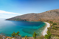 The beach Elinda in Chios island, Greece