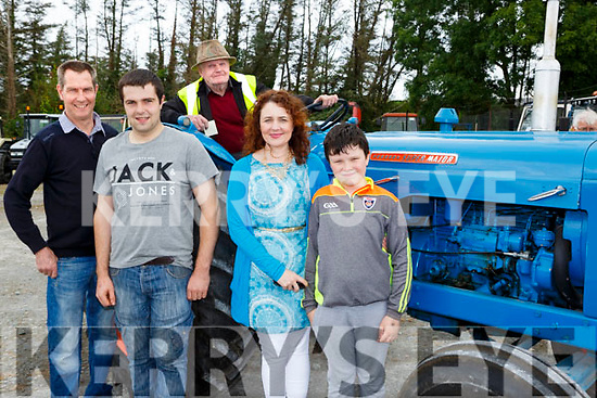Brian, Tony, Teresa and Cian O'Gorman with Tim Herlihy at the Castlemaine Vintage Rally on Sunday