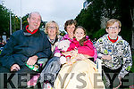 l-r  Mike Hoare, Trish Horan, Ann Marie Hoare, Kate Hoare and Sean Hoare enjoying the Open Air Screening of Tom Hanks's film  'Big' in Pearse Park on Friday