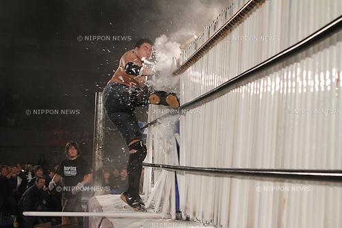"Ryuji Ito,.DECEMBER 19, 2010 - Pro Wrestling :.Fluorescent Lighttubes Deathmatch during the Big Japan Pro-Wrestling ""BJW"" event at Yokohama Cultural Gymnasium in Kanagawa, Japan. (Photo by Yukio Hiraku/AFLO)"
