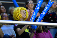 Pulse&rsquo; Fan during the ANZ Premiership - Pulse v Tactix at TSB Arena, Wellington, New Zealand on Monday 14 May 2018.<br /> Photo by Masanori Udagawa. <br /> www.photowellington.photoshelter.com