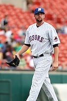 Buffalo Bisons relief pitcher Bobby Parnell #39 is taken out during a game against the Charlotte Knights at Dunn Tire Park on May 22, 2011 in Buffalo, New York.  Buffalo defeated Charlotte by the score of 7-5.  Photo By Mike Janes/Four Seam Images