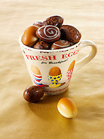 Traditional mini  chocolate Easter eggs