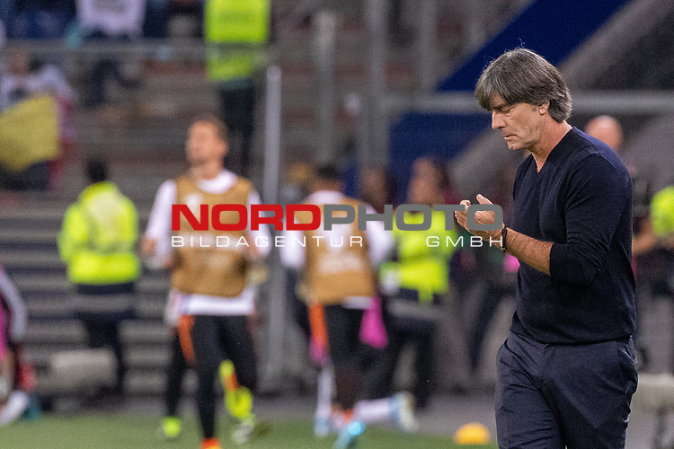 06.09.2019, Volksparkstadion, HAMBURG, GER, EMQ, Deutschland (GER) vs Niederlande (NED)<br /> <br /> DFB REGULATIONS PROHIBIT ANY USE OF PHOTOGRAPHS AS IMAGE SEQUENCES AND/OR QUASI-VIDEO.<br /> <br /> im Bild / picture shows<br /> <br /> Joachim Löw / Joachim Loew (Bundestrainer / Head Coach Deutschland / GER)<br /> <br /> während EM Qualifikations-Spiel Deutschland gegen Niederlande  in Hamburg am 07.09.2019, <br /> <br /> Foto © nordphoto / Kokenge