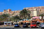 Hotels and shops at Solana Matoral, Morro Jable, Jandia peninsula, Fuerteventura, Canary Islands, Spain