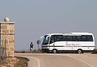 tourist bus , fornillos de fermoselle spain castile and leon