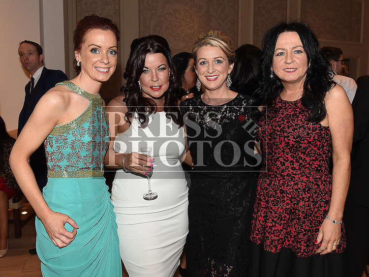 Suzanne Balfe, Aisling Carr, Maria and Bernie Carroll pictured at the Ardee Traders annual awards night in the Nuremore Hotel. Photo:Colin Bell/pressphotos.ie