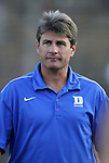 09 September 2011: Duke head coach John Kerr, Jr. The University of Virginia Cavaliers defeated the Duke University Blue Devils 1-0 at Koskinen Stadium in Durham, North Carolina in an NCAA Division I Men's Soccer game.