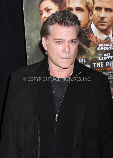 WWW.ACEPIXS.COM....March 28 2013, New York City....Ray Liotta arriving at 'The Place Beyond The Pines' New York Premiere at Landmark Sunshine Cinema on March 28, 2013 in New York City....By Line: Nancy Rivera/ACE Pictures......ACE Pictures, Inc...tel: 646 769 0430..Email: info@acepixs.com..www.acepixs.com
