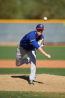 Texas Rangers pitcher Matt Ball (16) during an Instructional League game against the Kansas City Royals on October 4, 2016 at the Surprise Stadium Complex in Surprise, Arizona.  (Mike Janes/Four Seam Images)