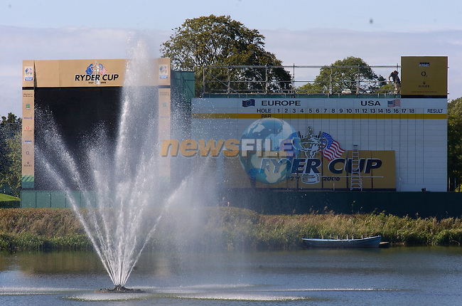 Final preparations are made for 2006 Ryder cup at the K Club in Straffin Co Kildare. ..Hole by Hole details will be added in the next few hours..Photo: Barry Cronin/ Newsfile.