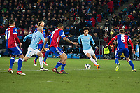 Manchester City's Leroy Sane in action <br /> <br /> Photographer Craig Mercer/CameraSport<br /> <br /> UEFA Champions League Round of 16 First Leg - Basel v Manchester City - Tuesday 13th February 2018 - St Jakob-Park - Basel<br />  <br /> World Copyright &copy; 2018 CameraSport. All rights reserved. 43 Linden Ave. Countesthorpe. Leicester. England. LE8 5PG - Tel: +44 (0) 116 277 4147 - admin@camerasport.com - www.camerasport.com