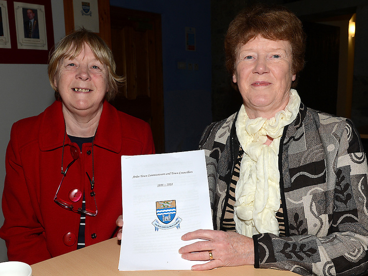 Margaret Hatrick and Kathleen Conlon at the Ardee Town Council reunion for past members held in Ardee Castle. Photo:Colin Bell/pressphotos.ie