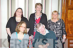 Gwen Kennedy, John Guerin. Back row: Helen Bailey, Mary O'Shea and Julie Bailey Tralee ..at the Dickie Rock Christmas party in the Gleneagle Hotel Friday night..