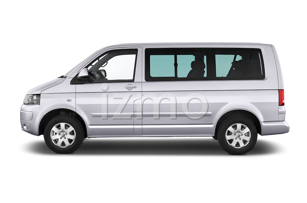 Car Driver Side Profile View Of A 2014 Volkswagen CARAVELLE COMFORTLINE 4 Door Passenger Van