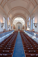 The interior of the Naval Academy Chapel at the US Naval Academy in Annapolis, Maryland.