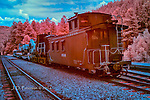 Maintenance Train at Rockwood Station, Colorado (Infrared)