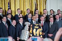 Washington DC, October 6, 2016, USA:  President Barack Obama welcomes the 2015 NHL Hockey Champion Pittsburg Penguins to the White House.  Patsy Lynch/Washington DC, October 6, 2016, USA:  President Barack Obama welcomes the 2015 NHL Hockey Champion Pittsburg Penguins to the White House.  Patsy Lynch/MediaPunch