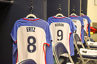 Seattle, WA - Thursday July 27, 2017: The U.S. women's national team locker room prior to their match versus Australia during a 2017 Tournament of Nations  at CenturyLink Field.