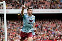 GOAL - John McGinn of Aston Villa makes it 1-0 during the Premier League match between Arsenal and Aston Villa at the Emirates Stadium, London, England on 22 September 2019. Photo by Carlton Myrie / PRiME Media Images.