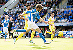 St Johnstone v Hearts…17.09.16.. McDiarmid Park  SPFL<br />Murray Davidson misses a good chance to score<br />Picture by Graeme Hart.<br />Copyright Perthshire Picture Agency<br />Tel: 01738 623350  Mobile: 07990 594431