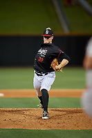 Birmingham Barons relief pitcher Zack Burdi (32) during a Southern League game against the Chattanooga Lookouts on May 2, 2019 at Regions Field in Birmingham, Alabama.  Birmingham defeated Chattanooga 4-2.  (Mike Janes/Four Seam Images)