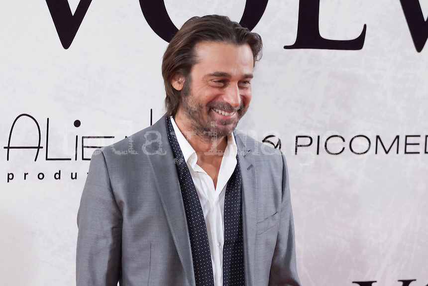 Jordi Molla attending the opening of the movie Volver a Nacer in Madrid.