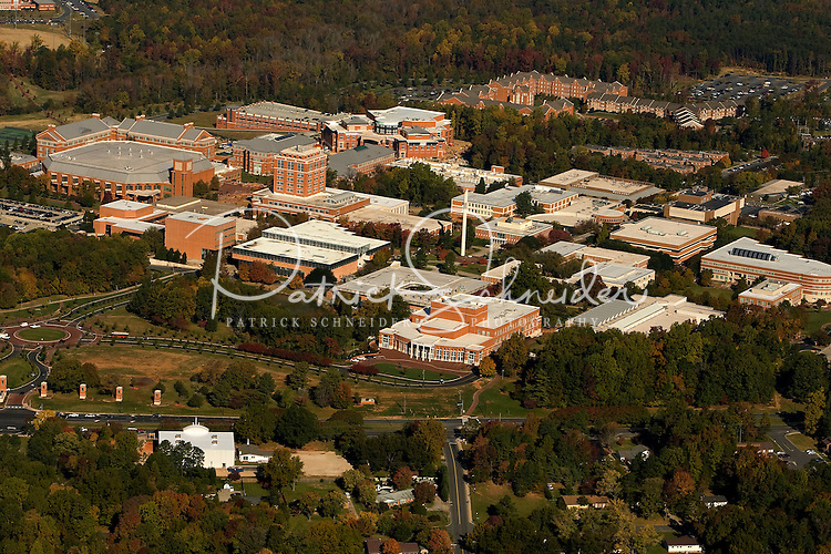 Aerial view of Charlotte's University of North Carolina - Charlotte campus. The 1,000-acre campus is approximately eight miles from downtown Charlotte.