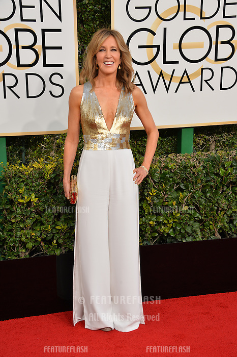 Felicity Huffman at the 74th Golden Globe Awards  at The Beverly Hilton Hotel, Los Angeles USA 8th January  2017<br /> Picture: Paul Smith/Featureflash/SilverHub 0208 004 5359 sales@silverhubmedia.com