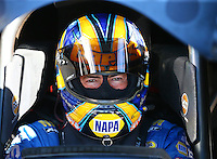 Feb 3, 2016; Chandler, AZ, USA; NHRA funny car driver Ron Capps during pre season testing at Wild Horse Pass Motorsports Park. Mandatory Credit: Mark J. Rebilas-USA TODAY Sports