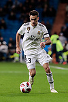 Real Madrid's Sergio Reguilon during Copa Del Rey match between Real Madrid and CD Leganes at Santiago Bernabeu Stadium in Madrid, Spain. January 09, 2019. (ALTERPHOTOS/A. Perez Meca)
