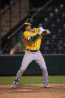 AZL Athletics right fielder Greg Deichmann (6) at bat during an Arizona League game against the AZL Angels at Tempe Diablo Stadium on June 26, 2018 in Tempe, Arizona. The AZL Athletics defeated the AZL Angels 7-1. (Zachary Lucy/Four Seam Images)