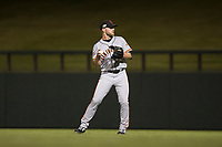 Scottsdale Scorpions right fielder Heath Quinn (45), of the San Francisco Giants organization, during an Arizona Fall League game against the Salt River Rafters at Salt River Fields at Talking Stick on October 11, 2018 in Scottsdale, Arizona. Salt River defeated Scottsdale 7-6. (Zachary Lucy/Four Seam Images)